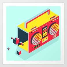Radio Jam Art Print