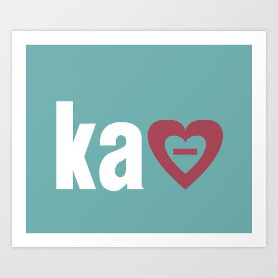 New! KAΘ Art Print