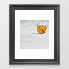Goodbye Fall Framed Art Print
