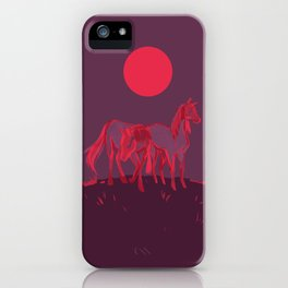 Supermoon Horses iPhone Case