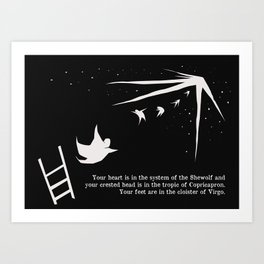 your feet are in the cloister of virgo Art Print