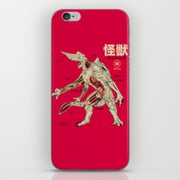 kaiju iPhone & iPod Skins featuring Kaiju Anatomy by MeleeNinja