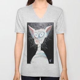 Skinny Cat Unisex V-Neck