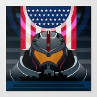 pacific rim Canvas Prints featuring Pacific Rim v2 by milanova