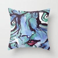 chill Throw Pillows featuring Chill by 5wingerone