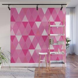 Harlequin Print Pinks Wall Mural