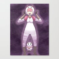 bee and puppycat Canvas Prints featuring Bee and Puppycat by timehwimeh