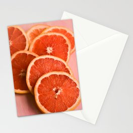 Grapefruit on Pink Stationery Cards