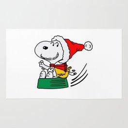 Snoopy Christmas Flying Rug