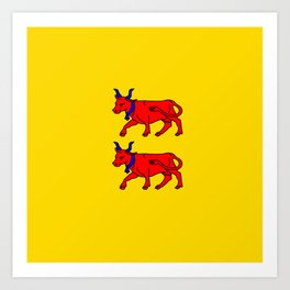 Flag of Béarn Art Print