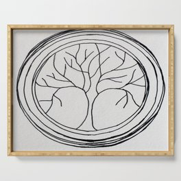 Tree Of Life Circle Serving Tray