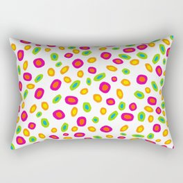Colorful Circles Abstract Print Rectangular Pillow