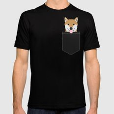 Indiana - Shiba Inu gift design for dog lovers and dog people Black Mens Fitted Tee LARGE