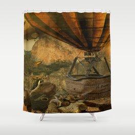 1987 Steampunk Shower Curtain