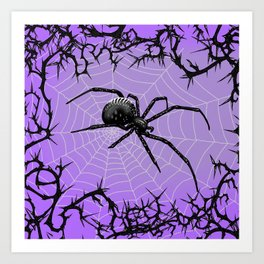 Briar Web- Purple Art Print