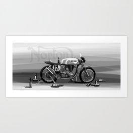 Beer Savage Vintage Norton Cafe Racer Art Print