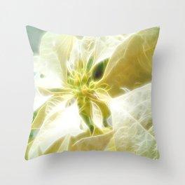 Pale Yellow Poinsettia 1 Angelic Throw Pillow