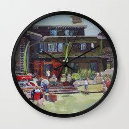 Gamble House, Pasadena, by Maryrose Smyth, 2013 Wall Clock