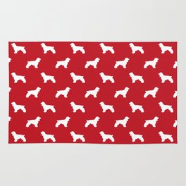 Cocker Spaniel red and white minimal modern pet art dog silhouette dog breeds pattern Rug