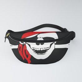 Pirate Crossbones Skull Bone Flag Danger Symbol. Fanny Pack