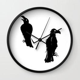 What Hugin Saw & Munin Said Wall Clock