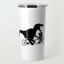 Gone Squatchin cycling with T-rex Travel Mug