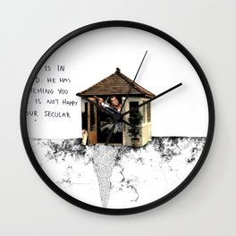 Mel Gibson is in your shed Wall Clock