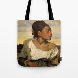 """Eugène Delacroix """"Jeune orpheline au cimetière (The Orphan Girl at the cemetery)"""" Tote Bag"""