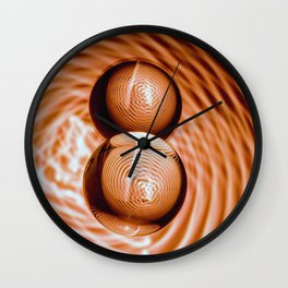 Golden Balls Wall Clock