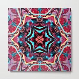 Fractal Art - Pink Kaleidoscope Metal Print