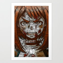 Ochako Uraraka - Boku no Hero Academia   My Hero Academia Art Print