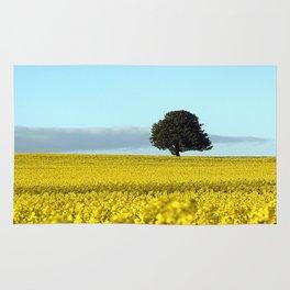 Fife's Golden Fields Of Rapeseed. Rug