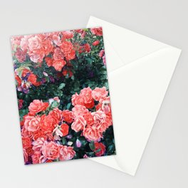 Psychedelic summer florals Stationery Cards