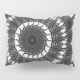 Gray Kaleidoscope Art 14 Pillow Sham