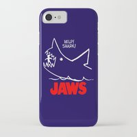 jaws iPhone & iPod Cases featuring Jaws by IIIIHiveIIII