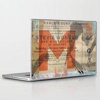 stevie nicks Laptop & iPad Skins featuring stevie wonder ticket stub by Vin Zzep