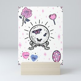 Pastel Pink Magic Flash Mini Art Print