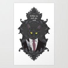American Psycho Kitty Art Print