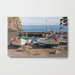 The harbour of Caloura Metal Print