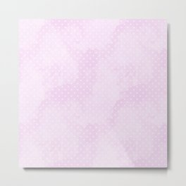 Degrade Pink Polka Dots Metal Print