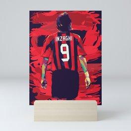 Filippo Inzaghi on WPAP Pop Art Mini Art Print