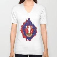 gorilla V-neck T-shirts featuring Gorilla by echo3005