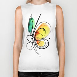 Ecstasy Bloom No.5 by Kathy Morton Stanion Biker Tank