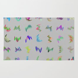 Orbital Crystals 7x7 Array #1 Astronomy Print Wall Art Rug