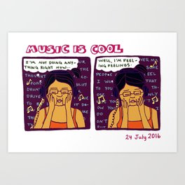 Music is Cool Art Print