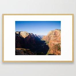 Angel's Landing in Zion National Park Framed Art Print