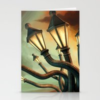 drunk Stationery Cards featuring Drunk Streetlamps by Remus Brailoiu