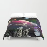 hologram Duvet Covers featuring Moonlight Drive by Antonio Jader