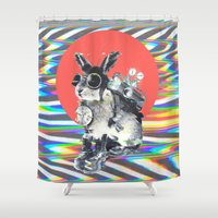 ali Shower Curtains featuring Time Traveller by Ali GULEC