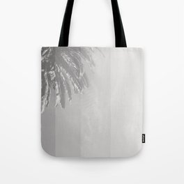 Black and White Palm Tote Bag